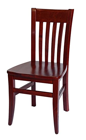 Beechwood Mountain BSD 34S M Solid Beech Wood Side Chairs In Mahogany For  Kitchen