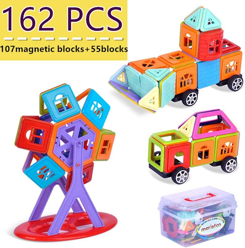 50PCS DIY Multicolour Magnetic Blocks Construction Building Kids Toy Large Size