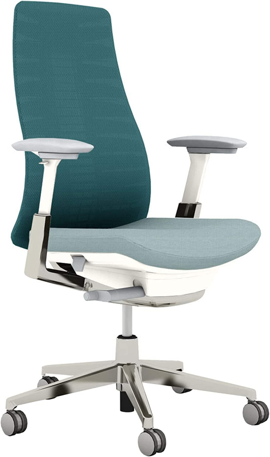Haworth Fern High Performance Office Chair with Ergonomic Innovations and Flexible Mesh Back, Cornflower