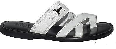 mens white dress sandals