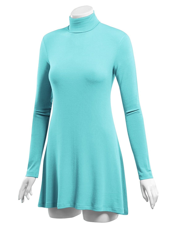 3c27c3c9b65 LL Womens Long Sleeve Handkerchief Hem Tunic - Made in USA at Amazon Women's  Clothing store: