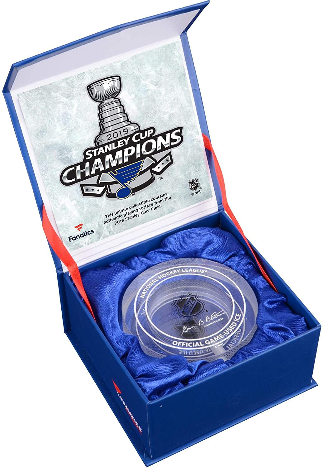 Louis Blues 2019 Stanley Cup Champions Crystal Hockey Puck Filled with Ice from the 2019 Stanley Cup Final St Fanatics Authentic Certified