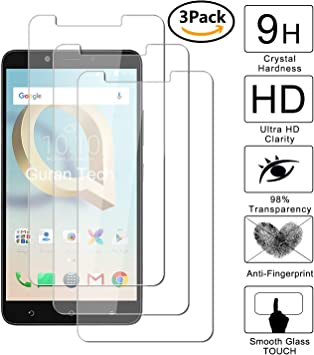 Guran [3-Unidades] Protector de Pantalla Vidrio Cristal Templado para Alcatel A7 XL Smartphone Glass Vidrio Templado Film (9H, 2.5D Edge, 0.3mm): Amazon.es: Electrónica