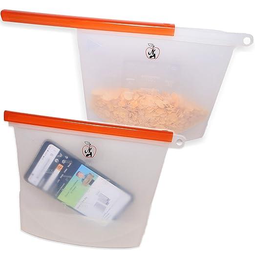 NEWTONS APPLE - Bolsas pequeñas de silicona reutilizables y ...