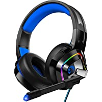 ZIUMIER Gaming Headset PS4 Headset, Xbox One Headset with Noise Canceling Mic and Rgb Light, PC Headset with Stereo…
