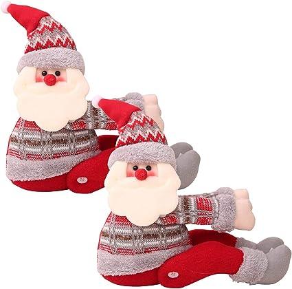 Fibbie Natalizie per Tende,Christmas Morsetto Gancio di Fissaggio Tenda Fibbia Fibbie Tende Finestra Tenda fermatenda Forniture Babbo Natale Regali di Natale Tenda Decorazione