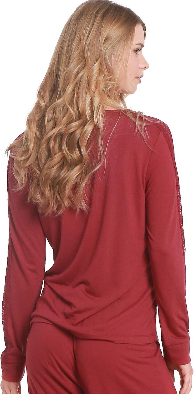 Jones New York Womens Sleepwear Pajama Top Nightwear Soft Comfortable PJ Nightshirt