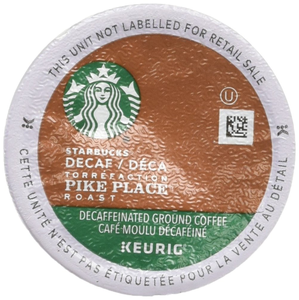 Starbucks Decaf Pike Place Roast, K-Cup for Keurig Brewers, 96 Count by Starbucks