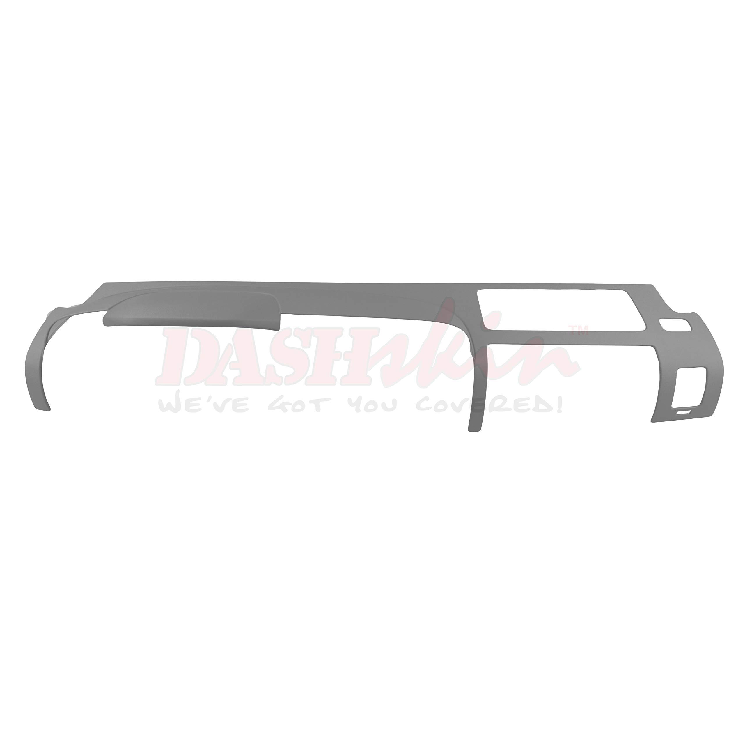 DashSkin Molded Main Dash Cover Compatible with 07-13 Silverado LS/LT & Sierra SL/SLE in Dark Titanium