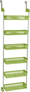 Household Essentials 6-Tier Basket Over-The-Door Organizer, Lime