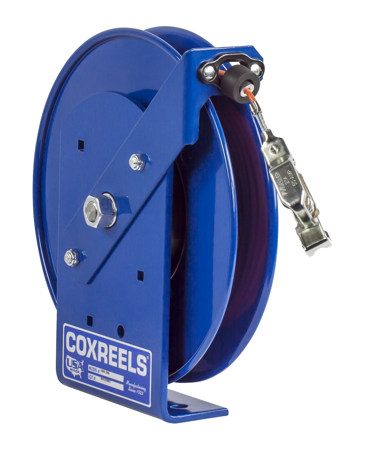 Coxreels SDHL-200 Static Discharge Hand Crank Cable Reel: 200' cable, less cable