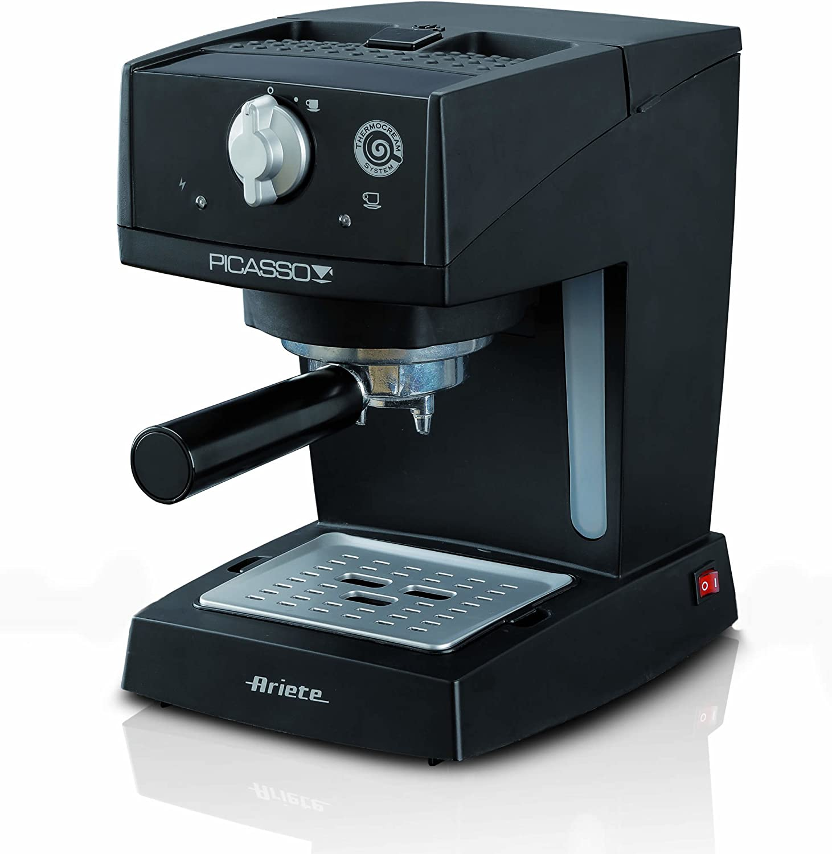 Ariete 1365 Independiente Semi-automática Máquina espresso 0.9L 1tazas Negro - Cafetera (Independiente, Máquina espresso, 0,9 L, De café molido, 850 W, Negro): Amazon.es: Hogar