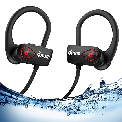 8f019d53bdb OHUMLABS ACTIVE BUD S800 Bluetooth Wireless Headphones with Pouch for Sports,  Running or Gym Workout