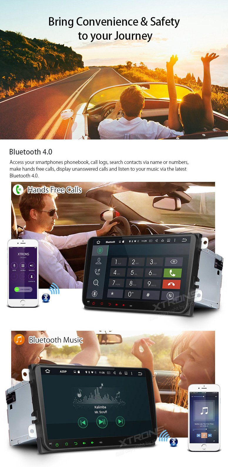 XTRONS Android 6.0 Octa-Core 9 Inch Capacitive Touch Screen Car Stereo Radio DVD Player Screen Mirroring Function OBD2 Tire Pressure Monitoring for VW Caddy Golf 2003-2013 Reversing Camera Included by XTRONS (Image #6)