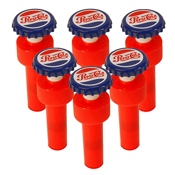 Amazon.com: Jokari Pepsi Heritage Logo Fizz Keeper Pump Cap Soda Bottle: Kitchen & Dining