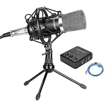 Neewer Micrófono de condensador de estudio profesional, soporte de ...