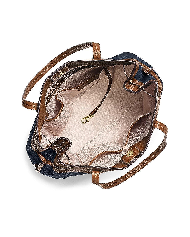 0a532975fd36 MICHAEL Michael Kors Marina North South Large Drawstring Tote Navy:  Amazon.ca: Shoes & Handbags
