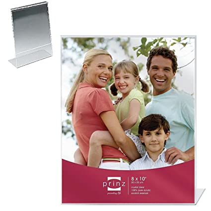 Amazon.com - Ultra-clear Acrylic With Bent-L Lip Easel Photo Frame ...