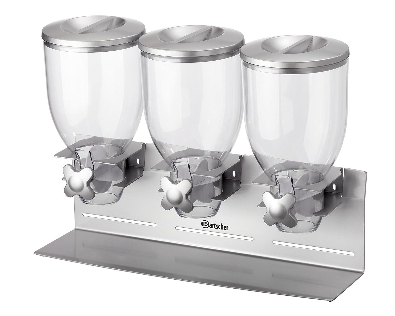 Dispenser erogatore di cereali a 3 campane da 3, 5 litri - Bartscher 500379