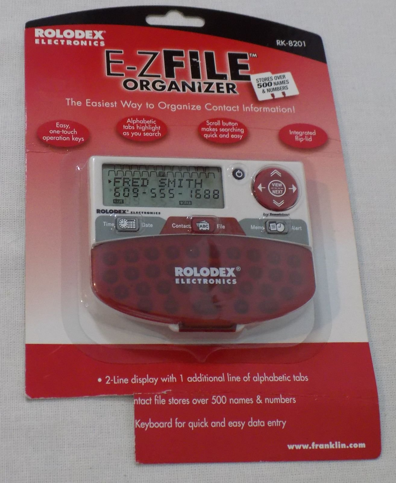 ROLODEX RK-8201 E-Z File Electronic Organizer