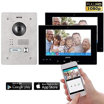 Video Türsprechanlage Kamera Und 7 Monitor