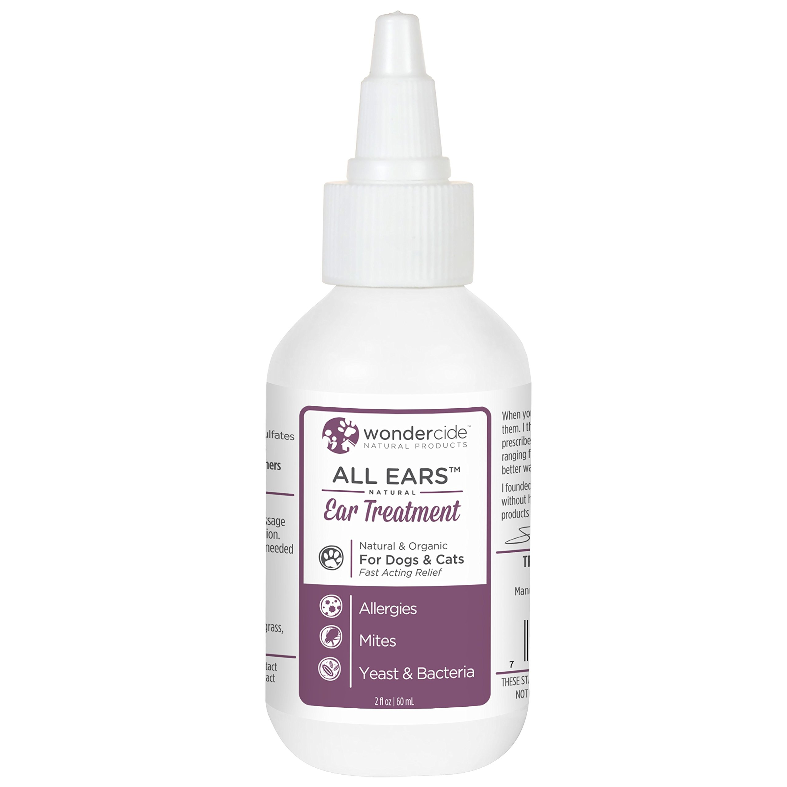 Wondercide All Ears Natural Ear Mite and Infection Treatment for Dogs and Cats - 60 ml