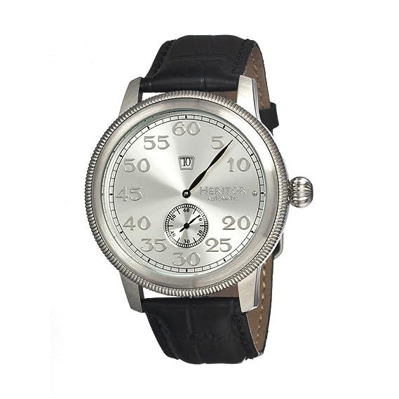 heritor automatic HERHR1001 - Reloj, correa de cuero color negro: Amazon.es: Relojes
