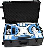 Procraft Aluminum DJI Phantom 2 3 Professional Advanced Standrad 4k Vision+ Travel Case Quadcopter Drones Rolling Travel Hard Case with Wheels - Black