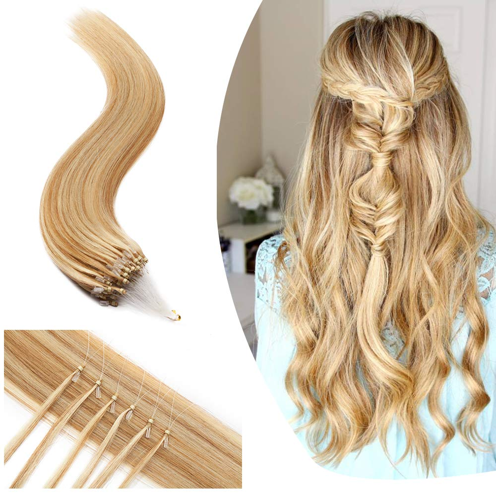 Micro Loop Safety and trust Ring Super-cheap Human Hair Rem Link Beads Extensions