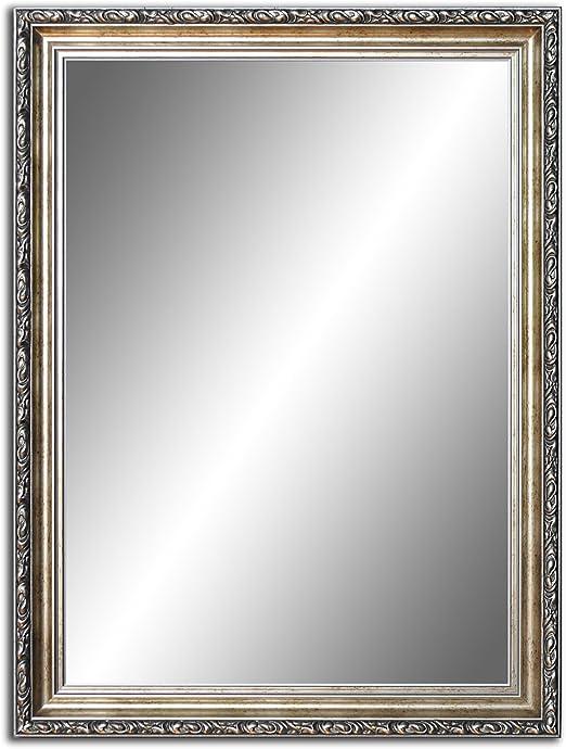 Badezimmerspiegel Antik.80 Cm X 60 Cm Spiegel Mit Rahmen Badezimmerspiegel Antik Alte Spiegel Handgefertigte Stabiler Ruckwand Rahmenleiste 60 Mm Breit Und 45 Mm Hoch Rahmen Farbe Gold Silber Amazon De Kuche Haushalt