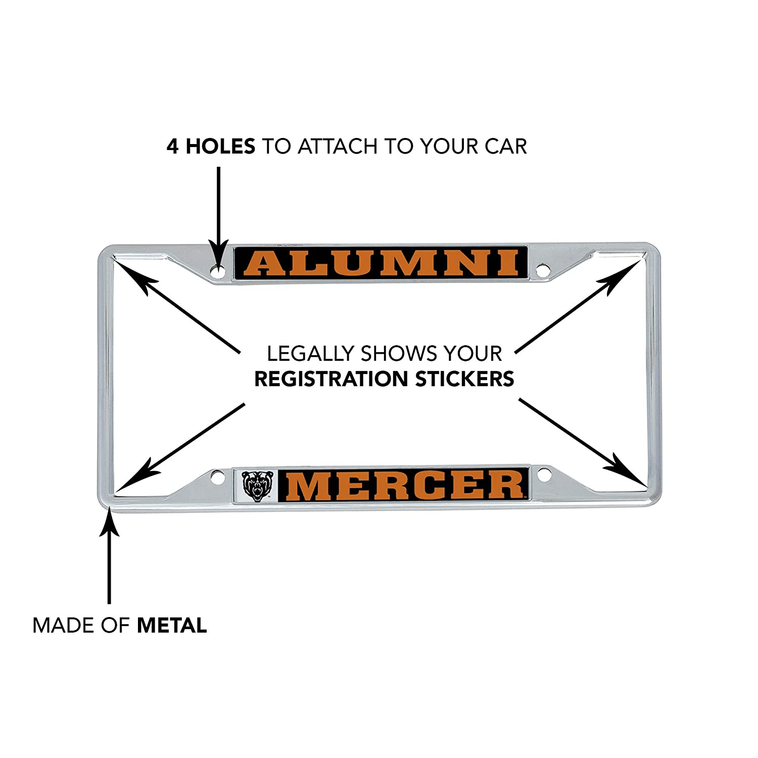 Mascot Desert Cactus Westminster College Titans NCAA Metal License Plate Frame for Front or Back of Car Officially Licensed