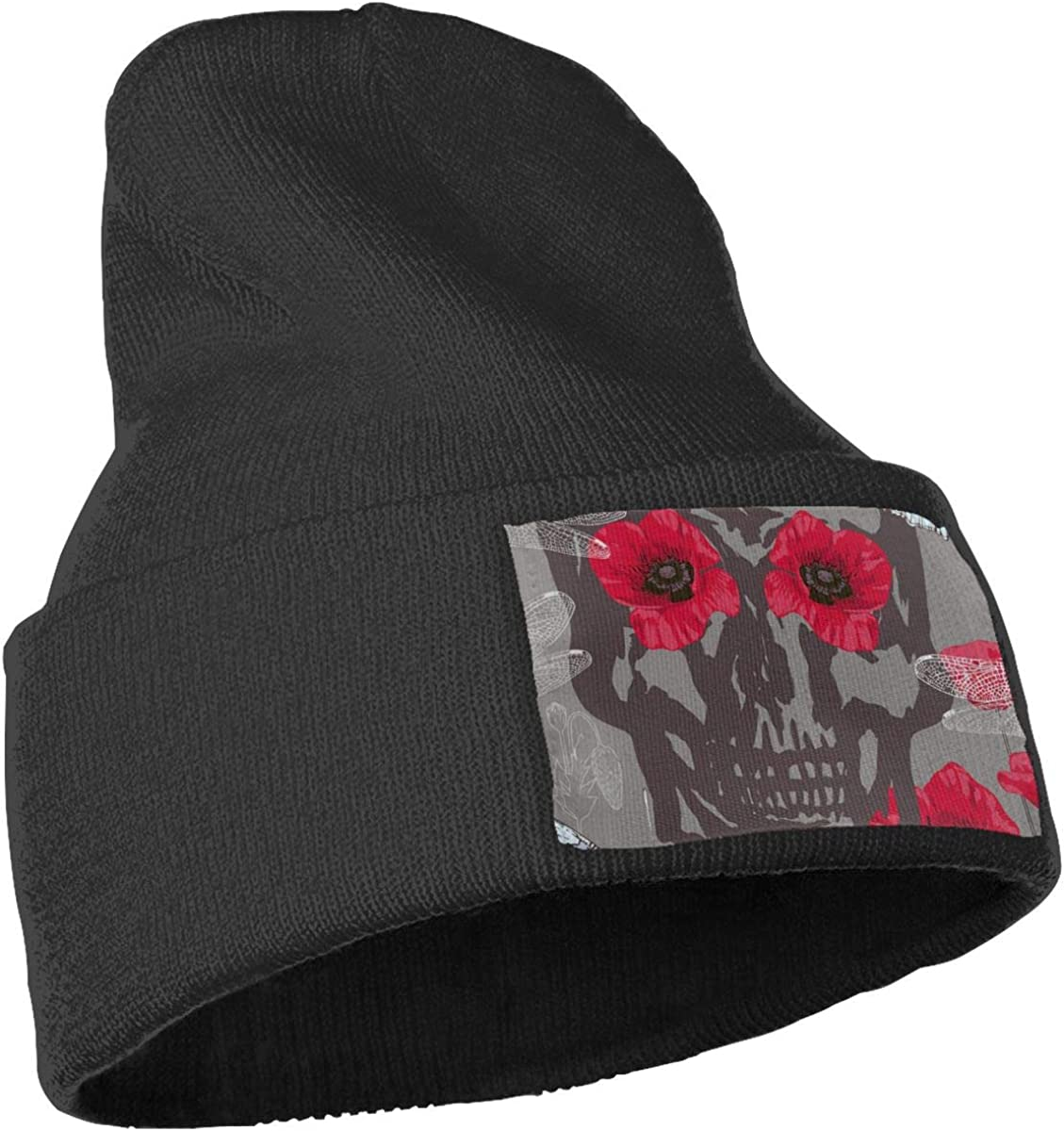 Ydbve81-G Mens and Womens 100/% Acrylic Knitting Hat Cap Skulls Flowers and Insects Fashion Skull Beanie