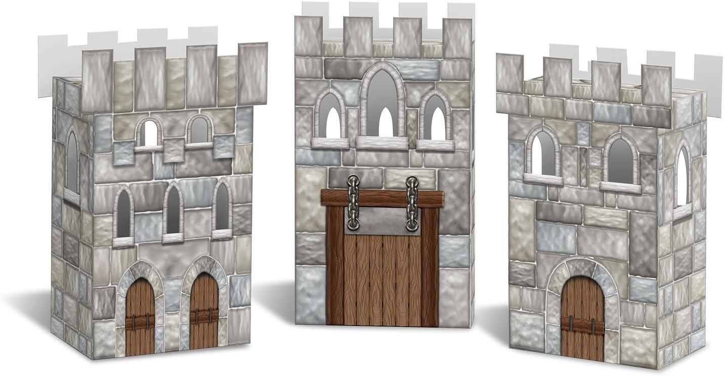 Beistle Castle Favor Boxes ,Multicolored ,Pkg of 3