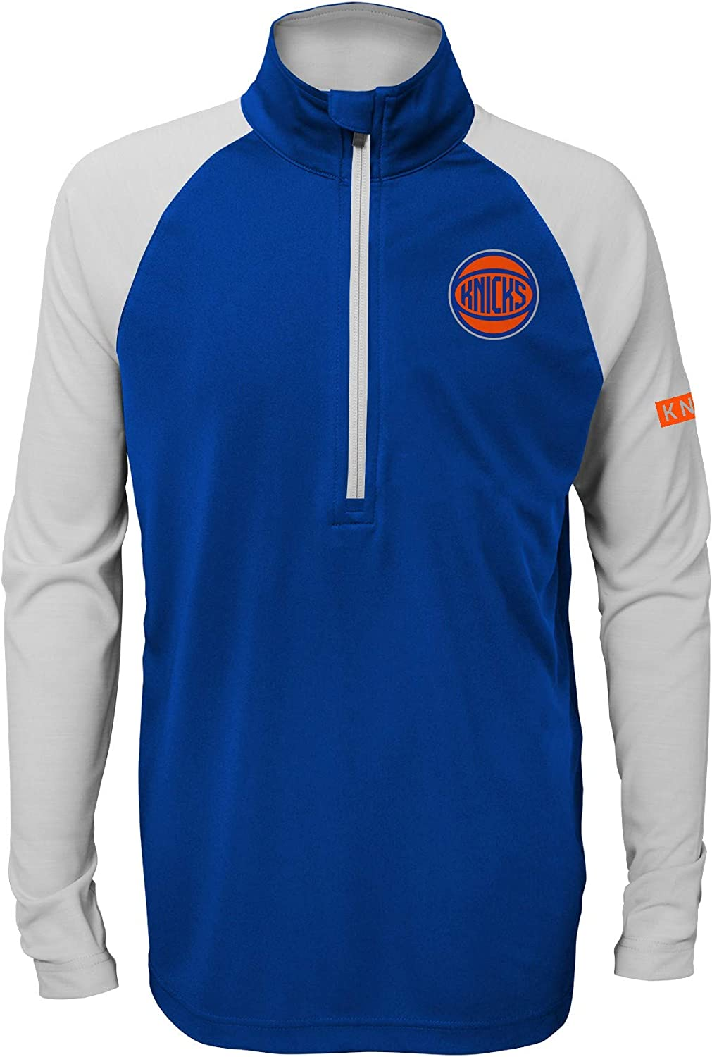 OuterStuff Youth New York Knicks Blue Destined Performance Half-Zip Pullover