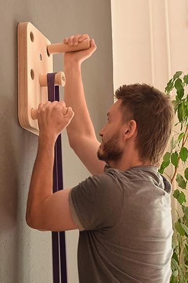 EdelKRAFT® Pegboard 2.0 especialmente para principiantes y avanzados. Entrenamiento de la parte superior del cuerpo y de la fuerza de agarre para ...