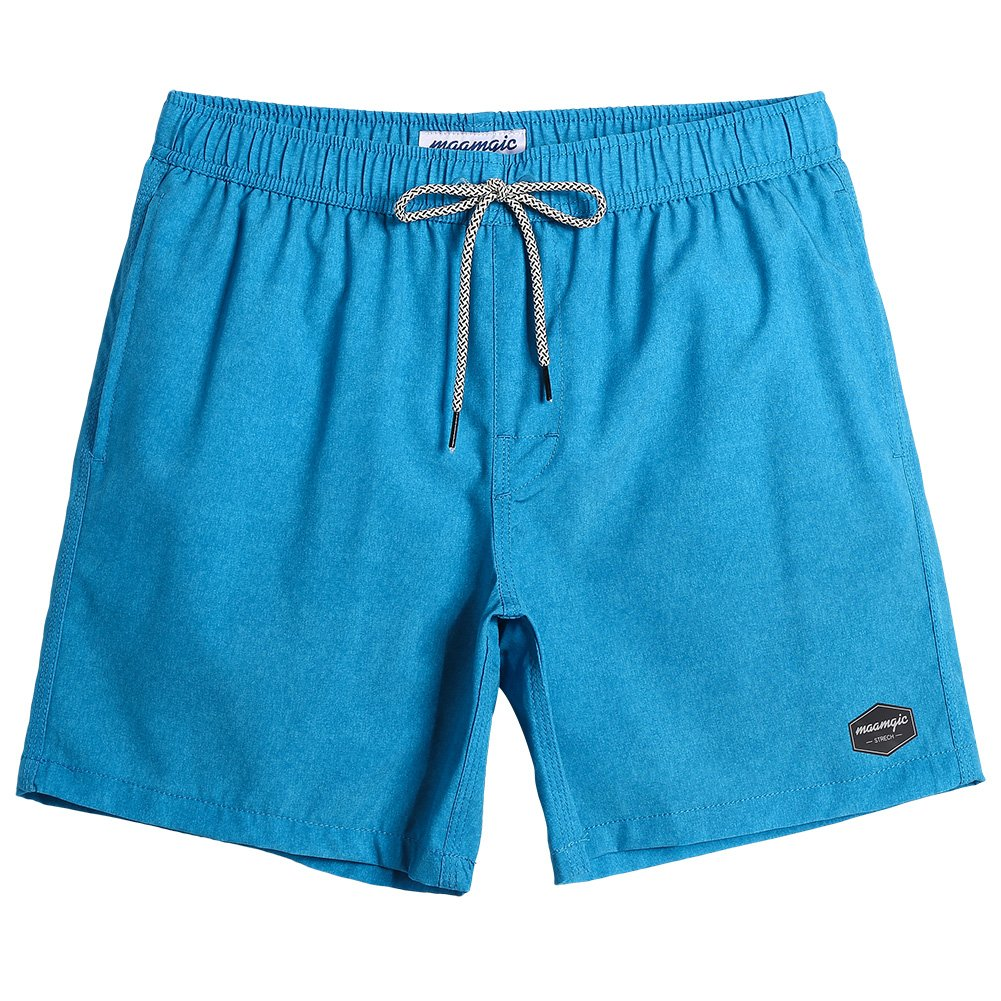 MaaMgic Mens Quick Dry Solid 4 Way Stretch Swim Trunks with Mesh Lining Swimwear Bathing Suits 281118513-2