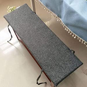 BEIGOO Simple Modern Bench Cushion, Overstuffed Comfortable Seat Cushion, Outdoor/Indoor, Bench/Swing/Settee Cushion, for Patio Furniture-120x30cm(47x12inch)-G