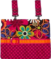 8ca8e33130a Espresso Flower Shower - Contemporary Floral, Multi-Colored, Functional  Walker Bag