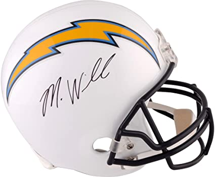 28c2b3a2c Mike Williams Los Angeles Chargers Autographed Riddell Replica Helmet -  Fanatics Authentic Certified