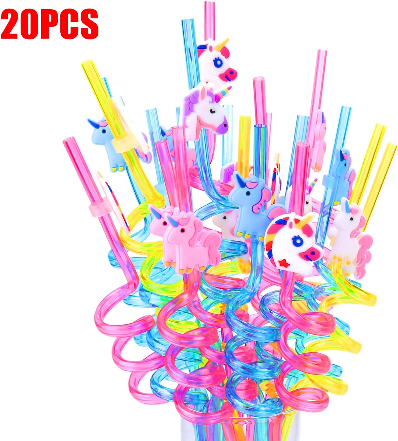 Unicorn Straws for 20 Guests