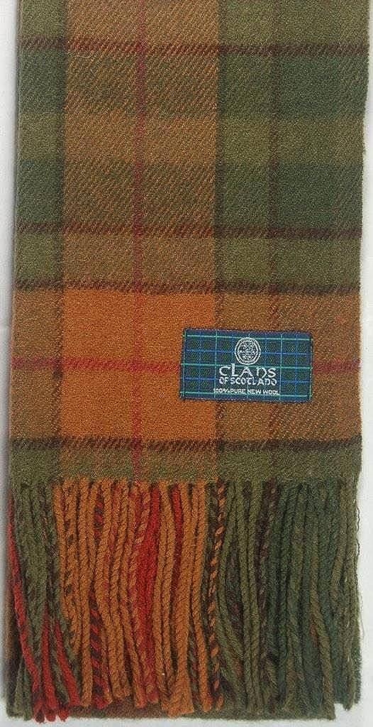 Lambswool Scottish Clan Scarf Buchanan Autumn Tartan
