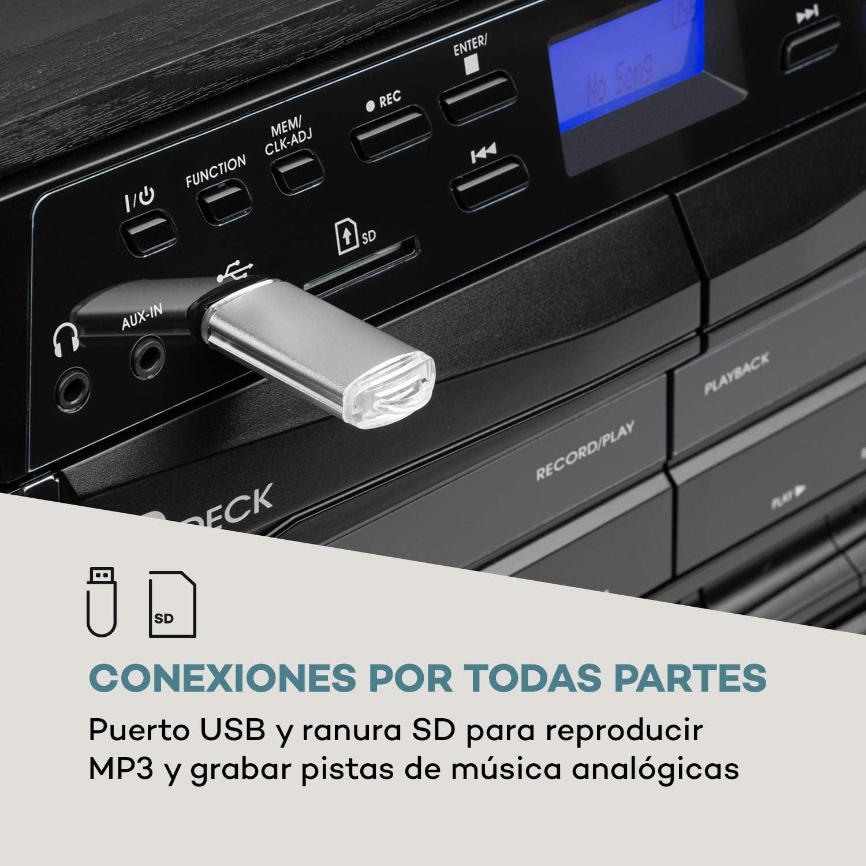 auna 388-DAB+ Equipo estéreo - Reproductor de vinilos , CD ...