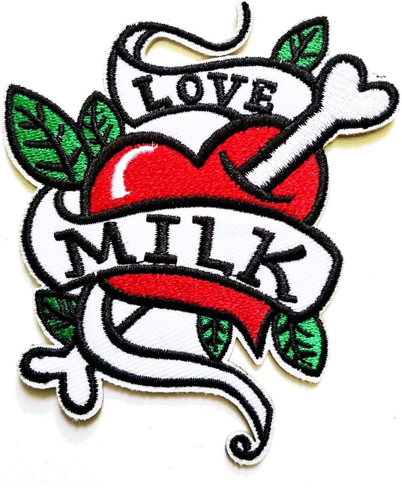 love iron on patch sewing on embroidered applique fabric badge clothesstickeBSC