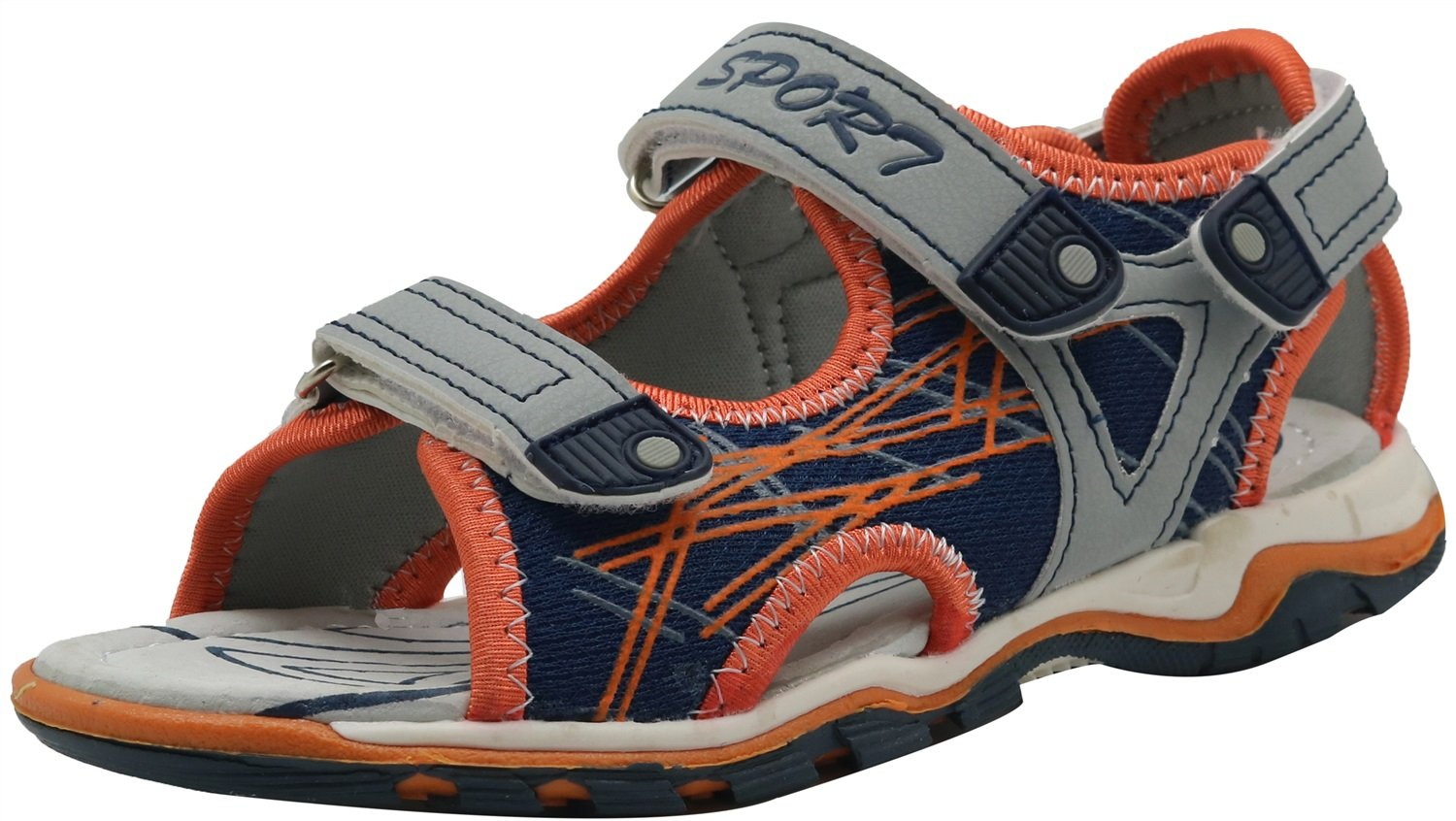 Toddler//Little Kid Durable Non-Slip Kids Boys Summer Shoes Lightweight Athletic Sport Beach Sandals Color : Orange , Size : 13 M US Little Kid