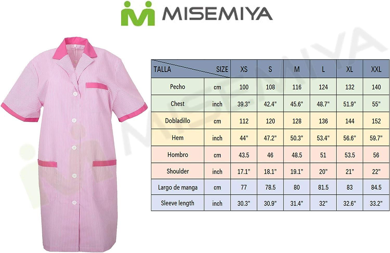6-817 Pack*6 Pcs MISEMIYA Medizinische Uniformen Unisex Top Krankenschwester Krankenhaus Berufskleidung
