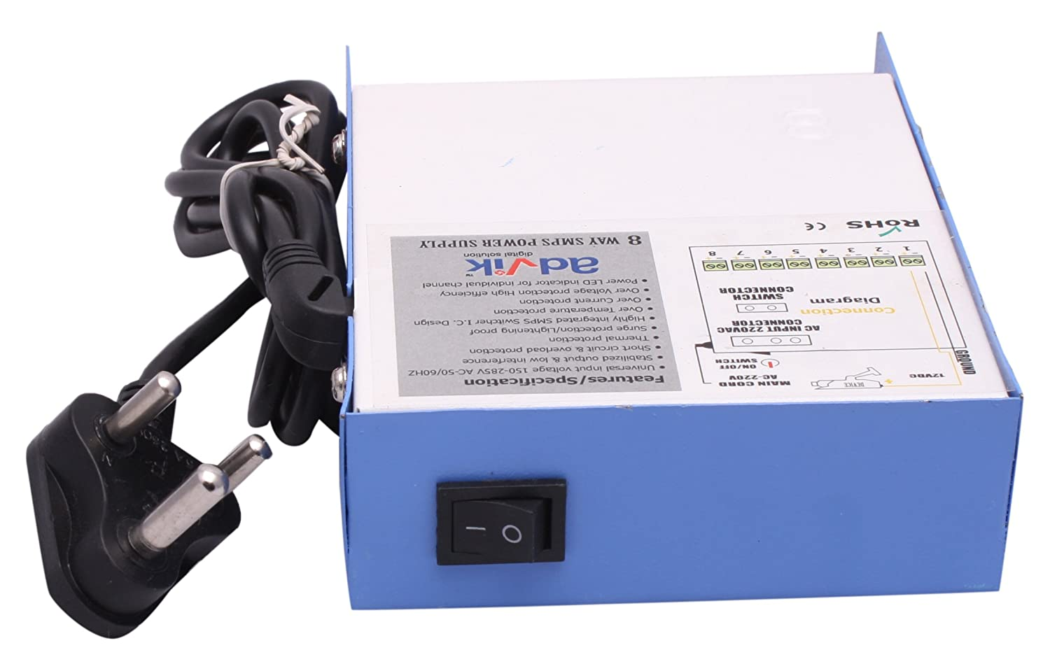 Advik 4 Ch Power Supply White Buy Protectors Circuit On Smps Online At Low Price In India