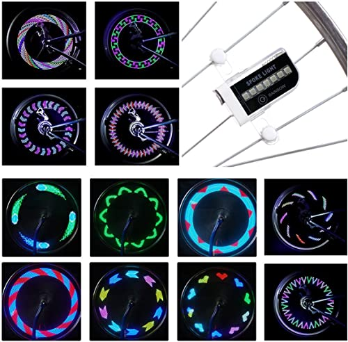 DAWAY LED Bike Spoke Lights - A12 Waterproof Cool Bicycle Wheel Light
