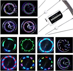 DAWAY LED Bike Spoke Lights - A12 Waterproof Cool Bicycle Wheel Light Safety Tire Lights  sc 1 st  Amazon.com & Bike Lighting Parts u0026 Accessories | Amazon.com