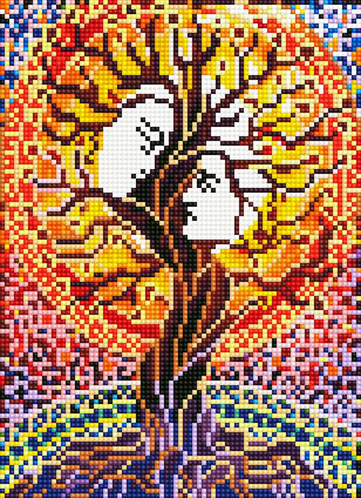 12X15 Tree and Man TINMI ARTS-5D Diamond Painting Kits for Adults Full Round AB Mosaic Cross Stitch Kits Embroidery Kits Home Wall D/écor