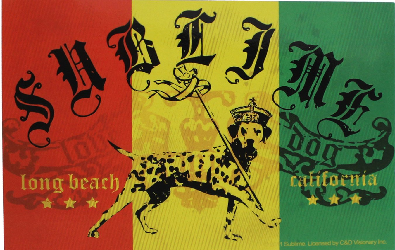Buy cd visionary sublime lou dog rasta flag sticker online at low prices in india amazon in